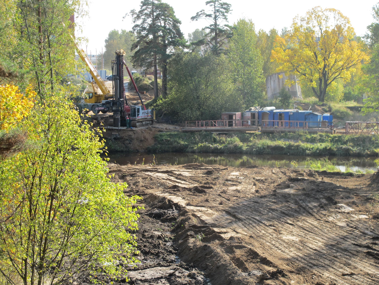Мост в Заречье Сосновый Бор